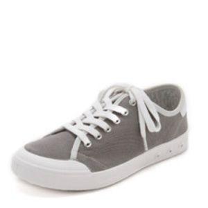 Rag & Bone Grey Low-Top Canvas Sneaker. 37.